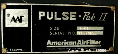 Used- AAF Pulse Pak II Cartridge Type Pulse Jet Dust Collector, Model 4-2H