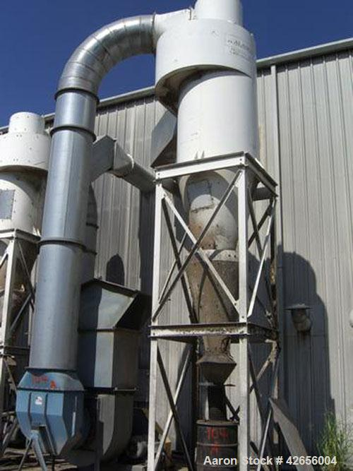 Used-Dust Collection System consisting of (2) AIR-TECH Industrial Fans and Motors, (5) Cyclone Collectors, Rotolok, Stands a...