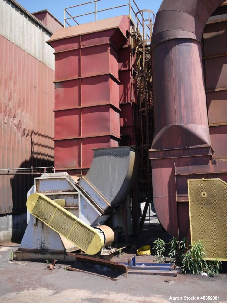 Used-Amerex RP Pulse Type Dust Collector, Model 12-690.  68,000 Cfm, 200 hp motor, New York blower size 54, new cages and ba...