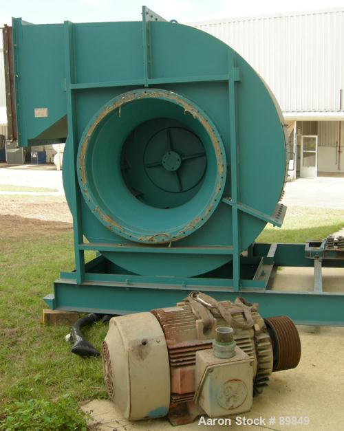 Used- Bact Engineering Dust Collector, Model TC-480-12W, Carbon Steel. Approximate 9,253 square foot filter area. Includes 2...
