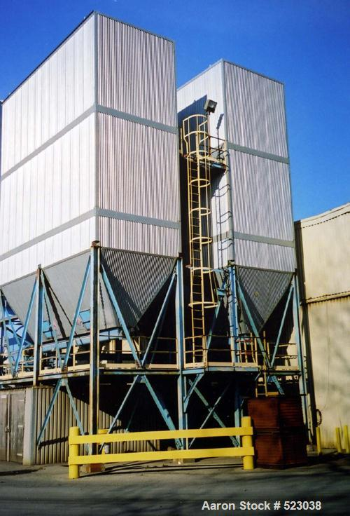 USED: Carbo-Tech 60,000 cfm baghouse type dust collection system,model 39-15-11945, installed new in 1999. Holds (585) 13' l...