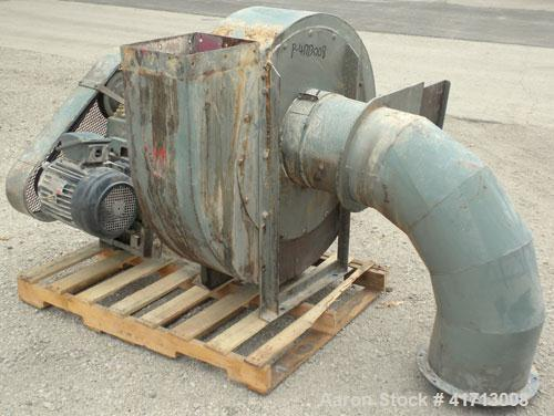 Used- The Day Company Reverse Jet Dust Collector, 320 square feet filter area, Approximate 1600-6400 cfm range. Size 24RJ60H...