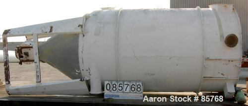 """USED: Carter Day reverse jet dust collector, carbon steel, approximate 3060 square feet filter area. 12"""" top air inlet and a..."""
