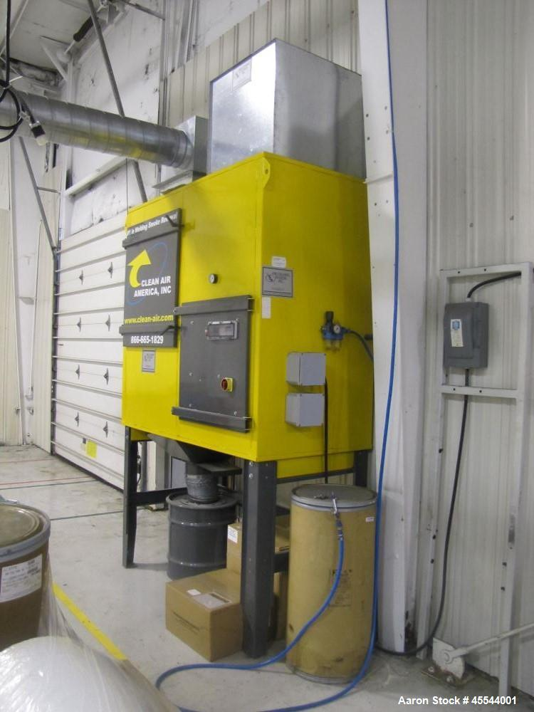Used-Clean Air America Dust Collector, Model DFC2.  3 Hp, 440 volt, 3 phase motor, motor starter, fully automatic pulse clea...