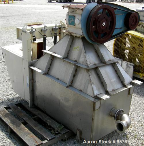 Used- DCE Dalmatic Dust Collector, Model DLMV6/10H, Approximately 64 Square Feet Filter Area. Top carbon housing, bottom 304...