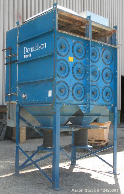 Used- Donaldson/Torit Downflo II Cartridge Type Pulse Jet Dust Collector, model DFT3-24, carbon steel. 4,560 Square feet fil...