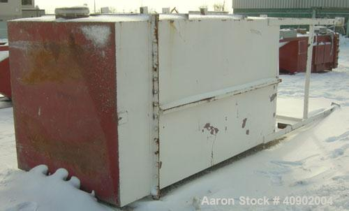 Used- EVO Pulse Jet Dust Collector, Model 84NF049. Approximately 490 square feet filter area. Carbon steel housing measures ...