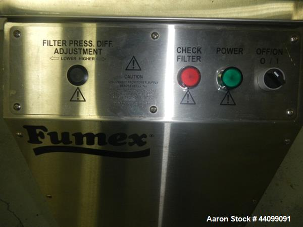 Used- Stainless Steel Fumex Dust Collector, Model FA2SS