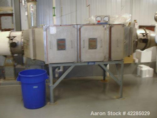 Used- Farr Pulse Jet Dust Collector, Size 9 XL, carbon steel. Includes a stainless steel Farr HEPA filter, model 1X2/012/1GB...