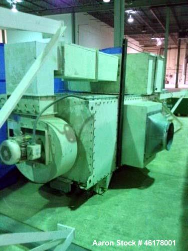 Used- Farr Dust Collector. 15 HP top motor, Gold Series. 2 HP motor on rotary air lock, 1500 CFM.