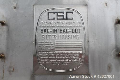 Used-Flanders/CSC Air Filtration System, bag-in/bag-out containment housing. Contains (2) model H2W-212-1NB-3S filtration un...
