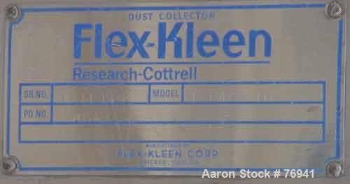 USED: Flex Kleen pulse jet dust collector. Bin vent design. Approx10 sq ft filter area, model 18BVBC4IIII. Stainless steel h...
