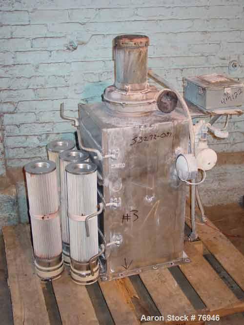 Used- Stainless Steel Flex Kleen Pulse Jet Dust Collector, Model 18BVBC4IIII