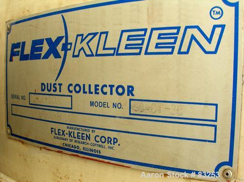 USED: Flex Kleen Pulse Jet Dust Collector, model 58-CT-38, 304 stainless steel. Approximately 189 square feet filter area. H...