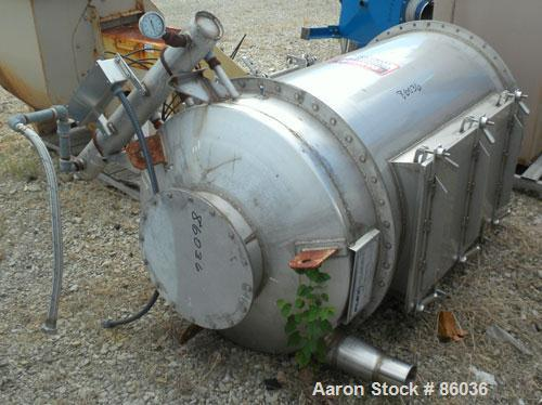 Used- Flex-Kleen Bin Vent Dust Collector, Model 58CT14-C, 304 Stainless Steel. Approximate 102 square feet filter area. Hous...