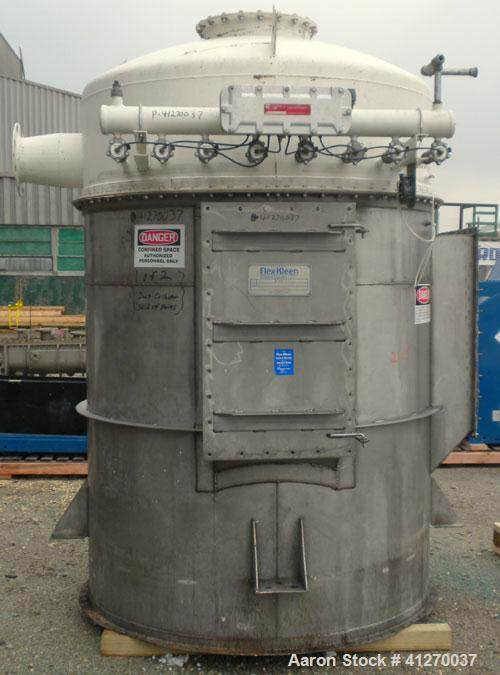 Used- Flex-Kleen Pulse Jet Dust Collector, model 58CTBC54III, approximately 389 square feet filter area, 304 stainless steel...