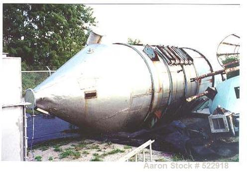 USED: 7000 cfm (1000 square foot) Flex Kleen cylindrical top removalstainless steel dust collector, model 84-CTR-86-III. Uni...