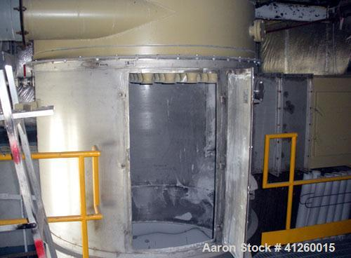 "Used-NR Murphy, Model HEC 97-8, Dust Collector, 304 Stainless Steel.  Pulse type.  Shaker type, (97) 5"" diameter x 95"" long ..."