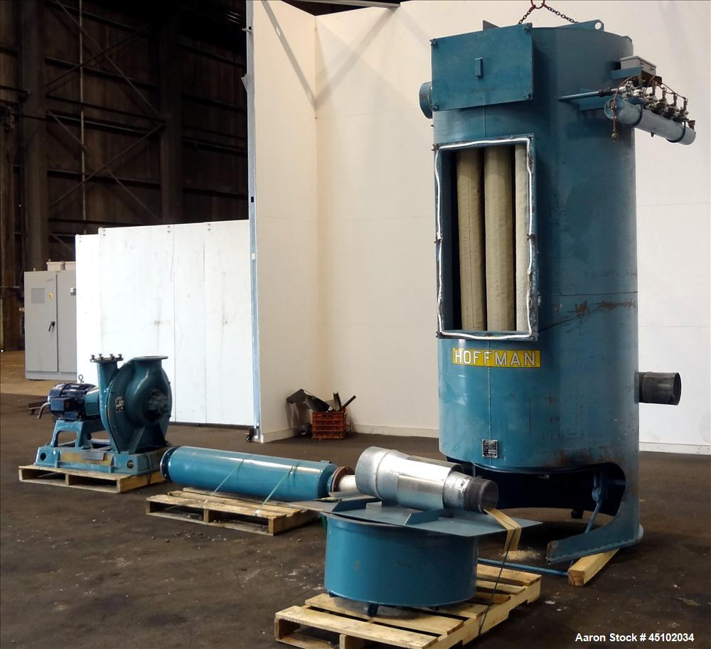 Used- Carbon Steel Hoffman Stationary Self-Contained Industrial Vacuum System