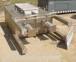 "Used- Jet Pulverizer Micron Dust Collector, Model 25, Stainless Steel. Manual shaker type. Housing measures 48"" x 24"" x 63"" ..."