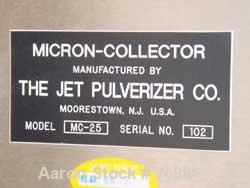 """Used- Jet Pulverizer Micron Dust Collector, Model 25, Stainless Steel. Manual shaker type. Housing measures 48"""" x 24"""" x 63"""" ..."""