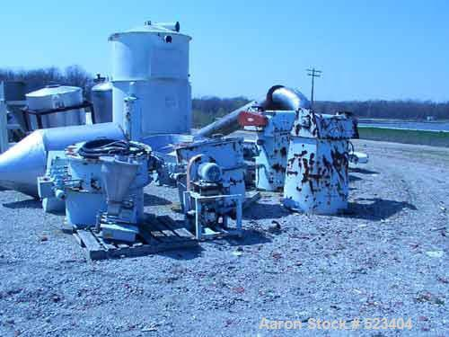 """USED: MAC dust collector, model 18RT14, carbon steel construction, 14 sq ft. 14 bags 6"""" x 24"""". Reverse pulse jet. Screw disc..."""