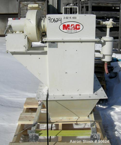 Used: MAC bin vent pulse jet dust collector, model 19AVC2, carbon steel. Approx 34 square feet filter area. (2) cartridge st...
