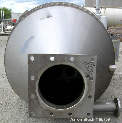 Used- MAC Pulse Jet Dust Collector, Model 36RT21, 321 Stainless Steel, Approximately 82 Square Feet Filter Area. Housing mea...