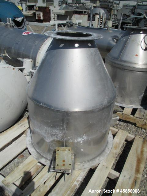"Used- MAC Dust Collector, Approximately 252 Square Feet, Model 39AVRC7-STY3, Stainless Steel. (7) 6"" Diameter x 39"" Long ple..."