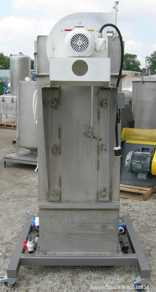Used- MAC Bin Vent Pulse Jet Dust Collector, Model 54AVS9, 304 stainless steel. Approximately 67 square feet filter area, 3....