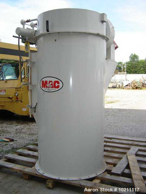 "Used-127 Square Food MAC AIir Vent Filter, Model 72AVR14, Style III. Carbon steel construction. Designed for 14 bags 72"" lon..."