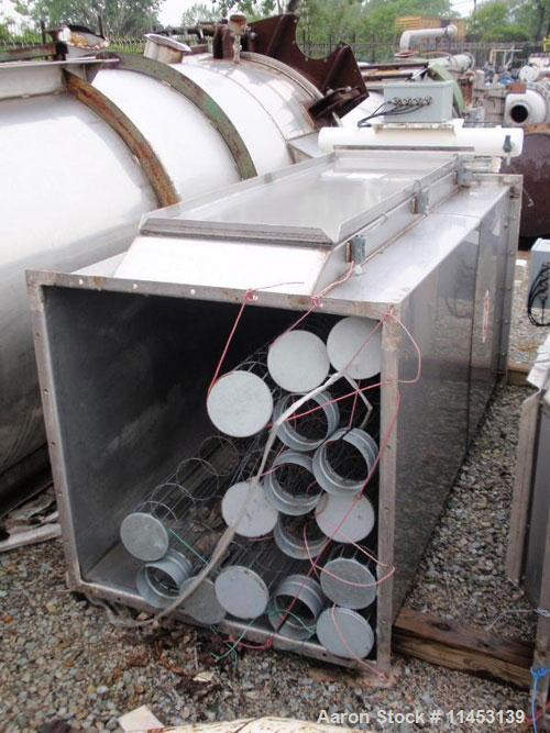 "Used-138 Square Foot MAC Dust Collector, model 72AVS16-2. Stainless steel construction, (16) 5.5"" diameter x 6' long bags, p..."