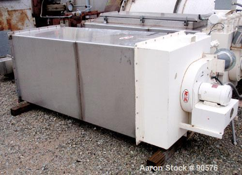Used- MAC Bin Vent Pulse Jet Dust Collector, Model 72AVS16-2, Stainless Steel. 159 square feet filter area, 5 SCFM. Housing ...
