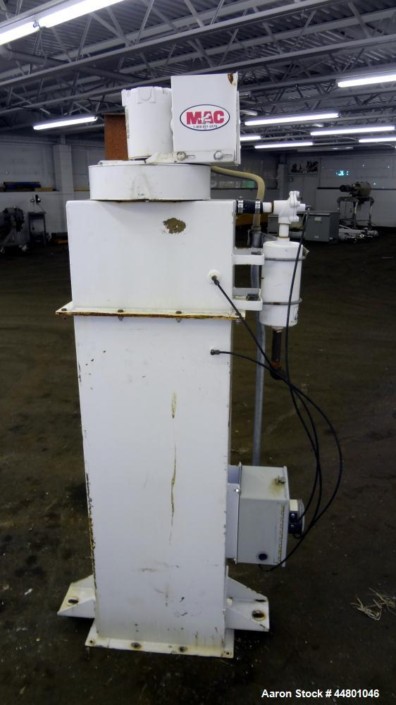 Used- MAC Equipment Bin Vent Dust Collector, Model AVSCSPCL-STY3, Carbon Steel. 72 Square Feet Filter Area, Includes a model...