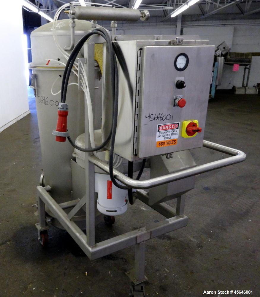 Used- Marchant Schmidt Portable Sanitary Dust Collection System, Model SDC1300, 304 Stainless Steel. Approximately 1300 cfm,...