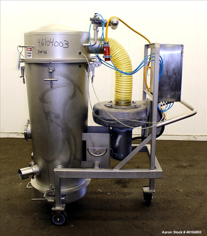 Used- Marchant Schmidt Portable Sanitary Dust Collector System, Model SDC1300, 304 Stainless Steel. Approximately 1300 cfm, ...