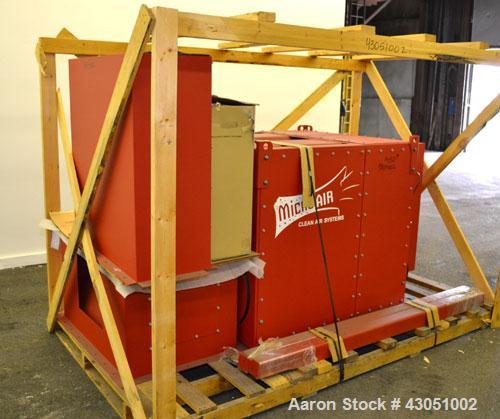 Unused- Micro-Air Cartridge Type Roto-Pulse Dust Collector, Model RP4, Carbon Steel. 1164 Square feet filter area, nominal a...