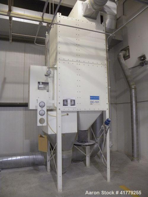 Used- Micro Air Cartridge Type Roto-Pulse Dust Collector, Model RP8, Carbon Steel. 2000 square feet filter area, nominal air...