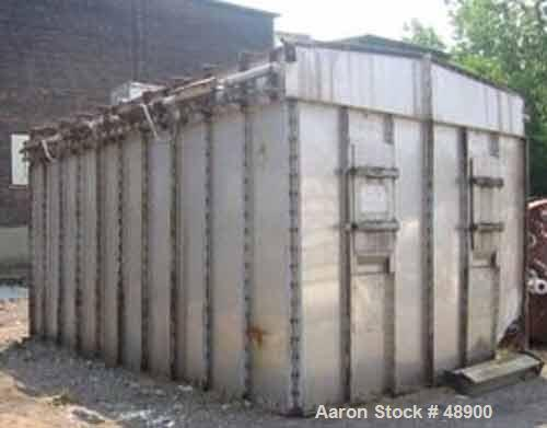 USED: Mikro Pulsaire pulse jet dust collector. 38,640 cfm max at 7:1 ratio of air to cloth, 5520 square feet of cloth surfac...