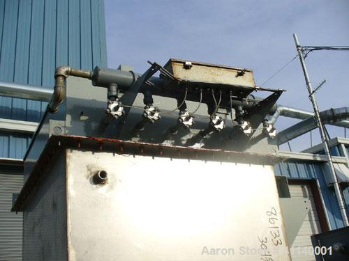 Used-Mikro Pulsaire Pulse Jet Dust Collector, Model 36S3TR. 304 stainless steel, approximately 140 square feet filter area. ...