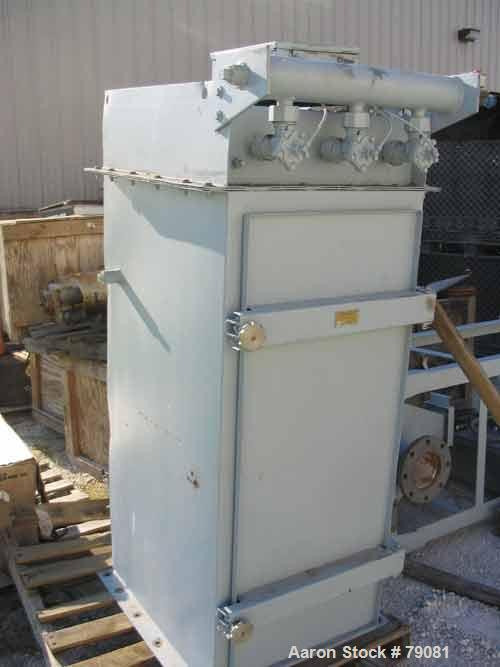 """Used- Mikro Pulsair Dust Collector, Model 668636, 36 Square Foot Filter Area, Carbon Steel. Housing measures 24"""" x 28"""" x 66""""..."""