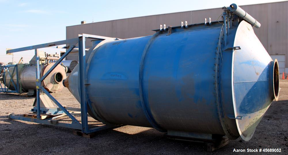 Used- Hosokawa Mikro-Pulsaire Pulse Jet Dust Collector, Model 97-10, Carbon Steel. Approximately 1143 square feet filter are...