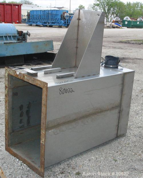 """USED:MSM bin vent pulse jet dust collector, approx 25 sq ft filterarea, 304 stainless steel. Housing 26"""" x 37"""" x 50"""" tall. T..."""