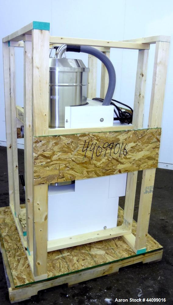 Used- Nilfisk Industrial Vacuum Cleaner, Model 3306 AXX, Carbon Steel. Stainless steel canister, approximately 20 square fee...