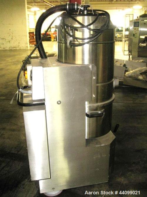 Used- Nilfisk Industrial Vacuum Cleaner, Model 3306 AXX, Stainless Steel. Approximately 20 square feet surface area, 2.55 kw...