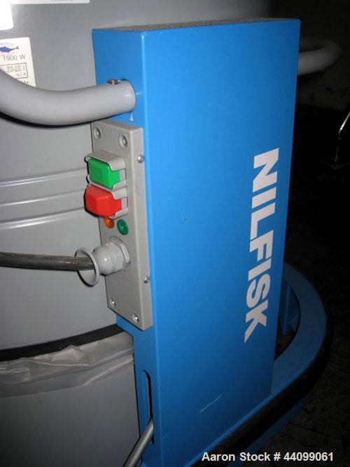 Used- Nilfisk Vacuum Cleaner, Model GB725. Portable design, 230V, 3 phase, serial # 002213/950411