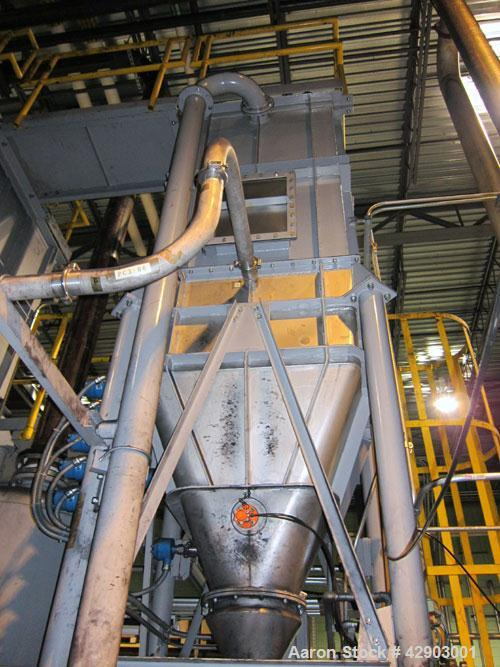 "Used- Nippon Pneumatic Pulse Jet Dust Collector, Model PBF-20, 215 Square Filter Area. Top carbon steel housing 40"" wide x 4..."