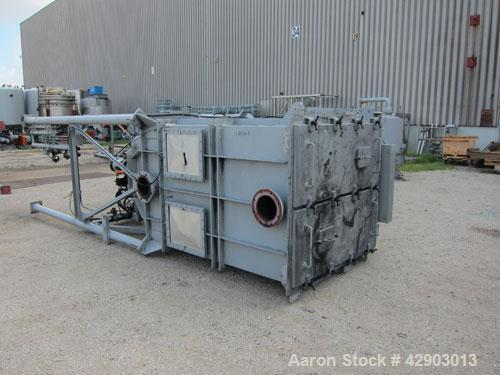 """Used- Nippon Pneumatic Pulse Jet Dust Collector, Model PBF-40, 430 Square Filter Area. Carbon steel housing 52"""" wide x 52"""" l..."""