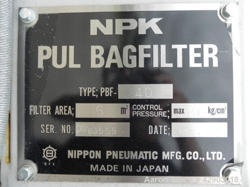 Used- Nippon Pneumatic Pulse Jet Dust Collector, Model PBF-40