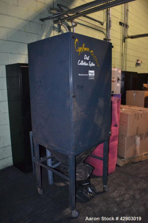 Used- HGI Cyclone 600 Single Cartridge Dust Collector System, Carbon Steel. Includes a 1hp, 1/60/115-208/230 volt, 3450 rpm ...